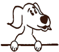 a cartoon image of a dog